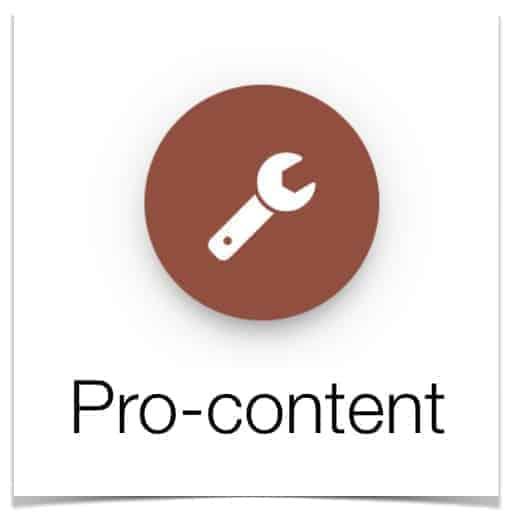 Pro-content logo