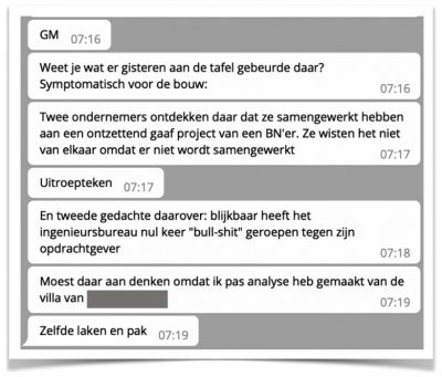 Stukje DM-chat Felix en Lars
